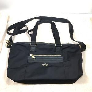 Kipling Smooth Black Nylon Crossbody Bag Tote